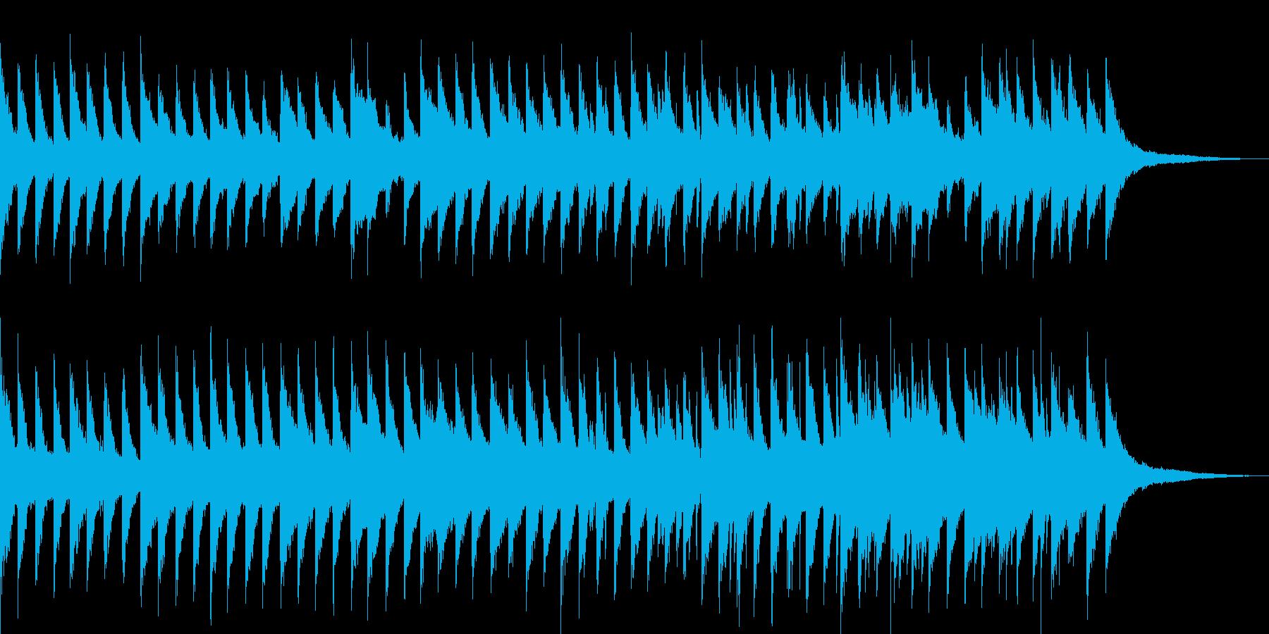 やるせない雰囲気のピアノソロ曲の再生済みの波形