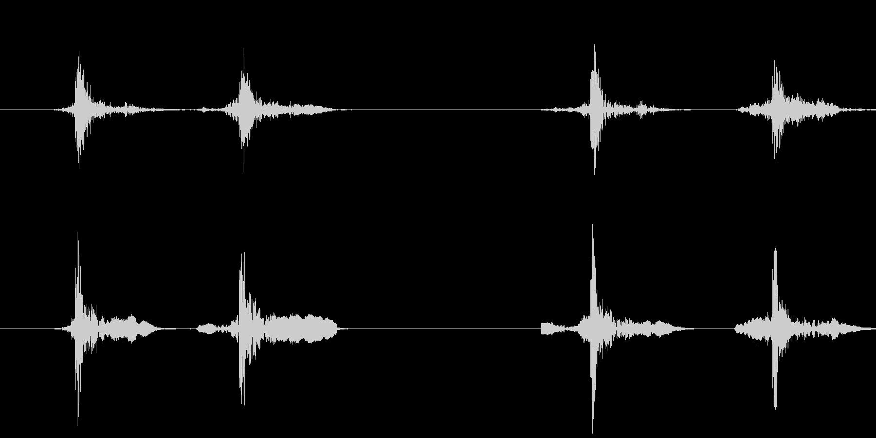 マウスのダブルクリック(カチカチッ)の未再生の波形