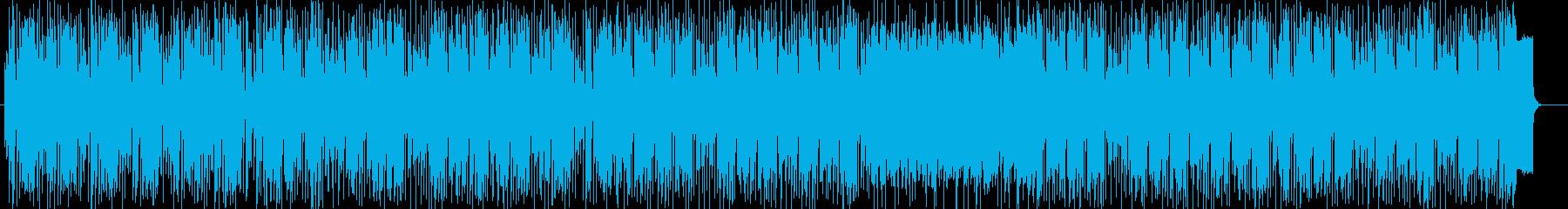 軽快で清々しいポップスの再生済みの波形