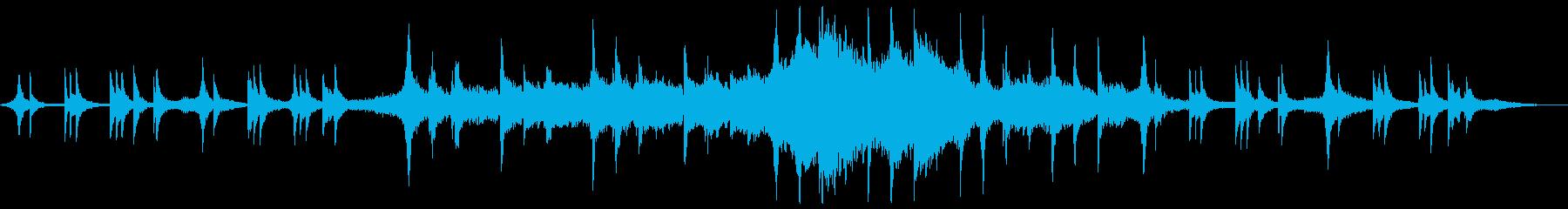 フェルトピアノが切ない感傷的アンビエントの再生済みの波形