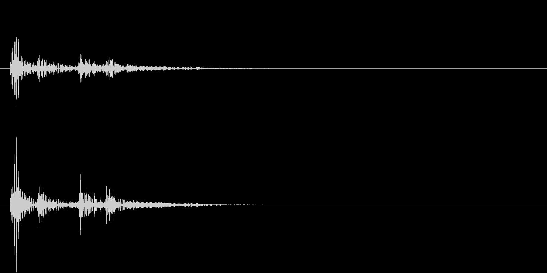 【生録音】お茶碗に箸が当たる音 単発 3の未再生の波形