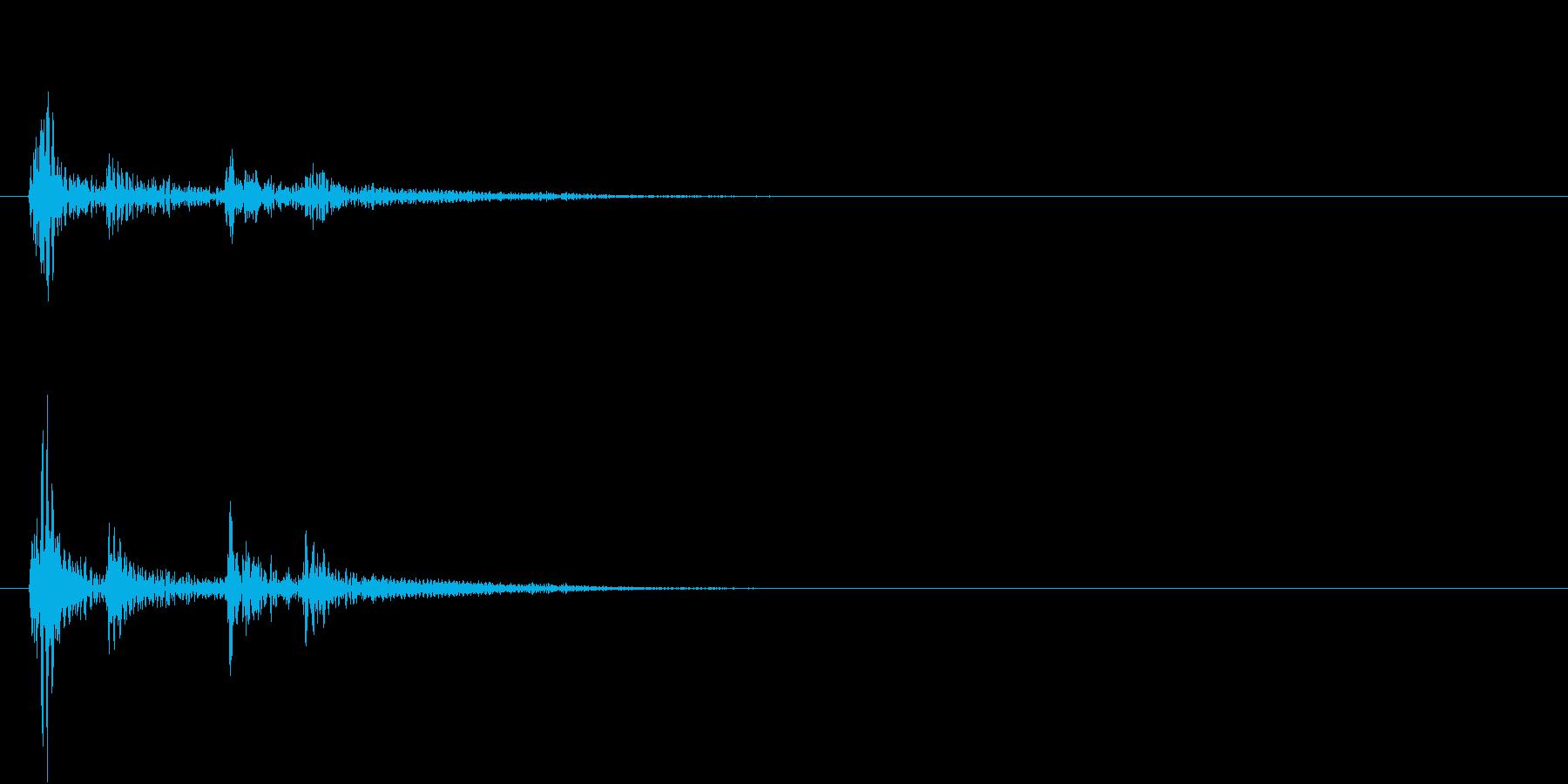 【生録音】お茶碗に箸が当たる音 単発 3の再生済みの波形