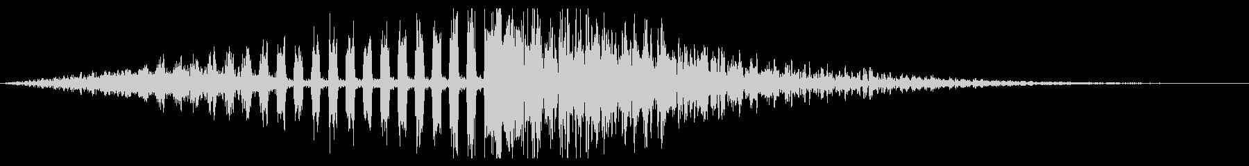 ホラー系アタック音135の未再生の波形