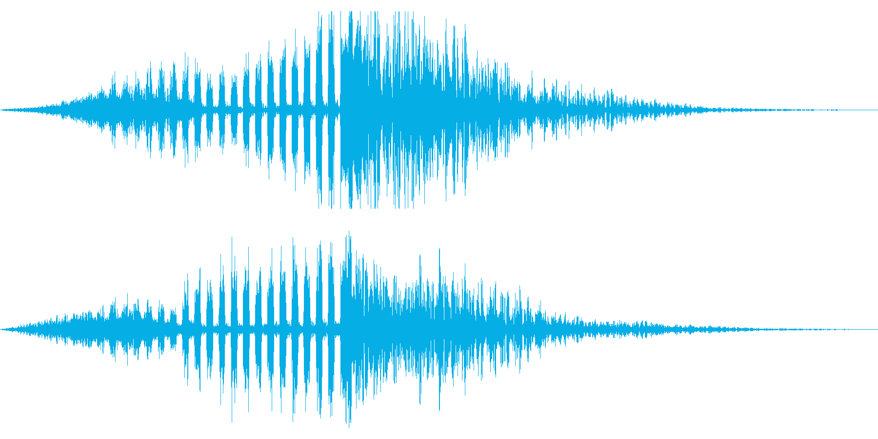 ホラー系アタック音135の再生済みの波形