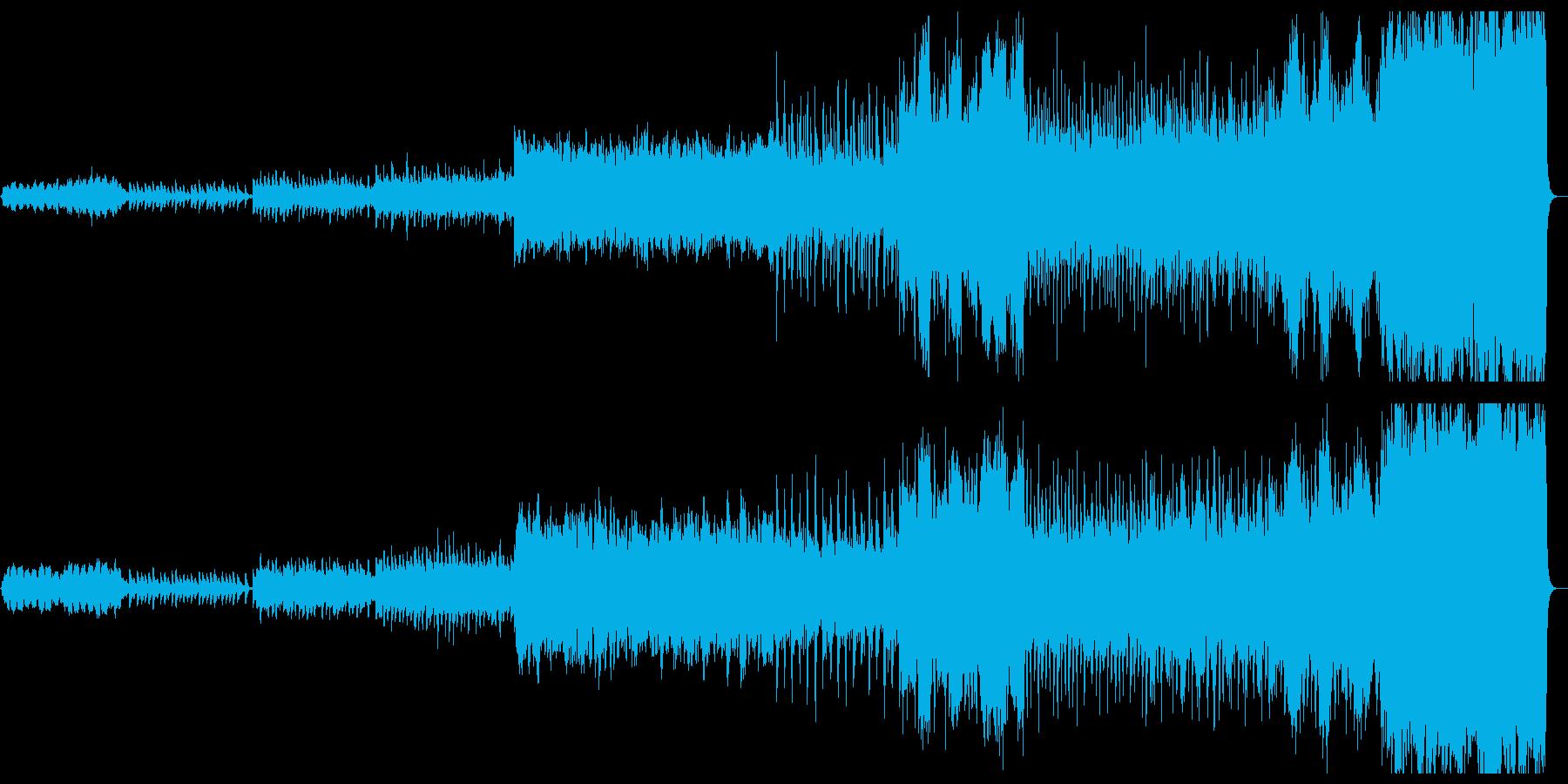 オーケストラ+ピアノ、勇壮なイメージの再生済みの波形