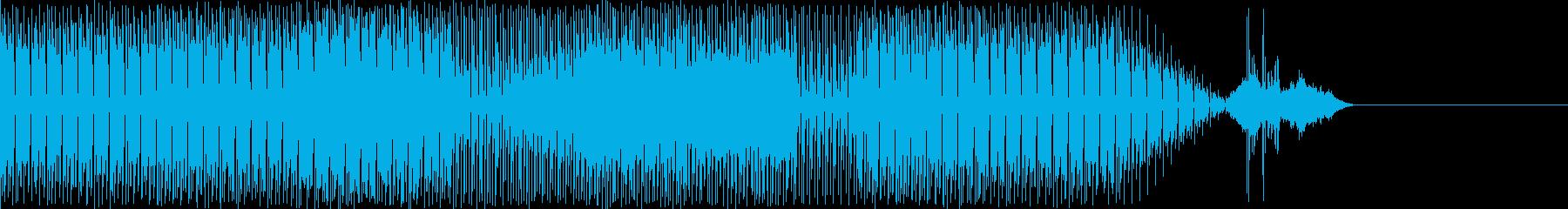遅いレゲエ。背景をポップします。の再生済みの波形