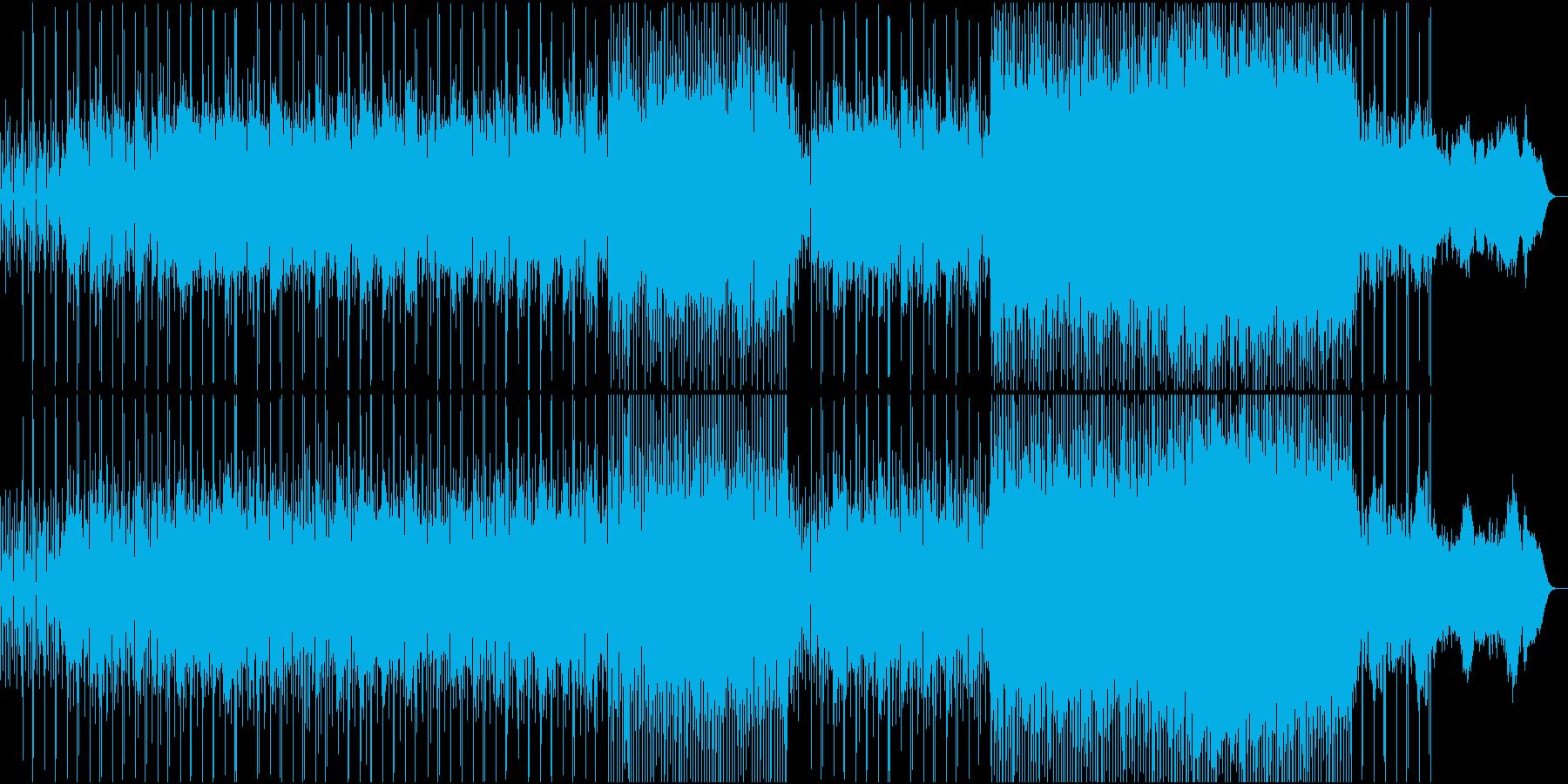 駆け抜けるような爽やかテクノポップスの再生済みの波形