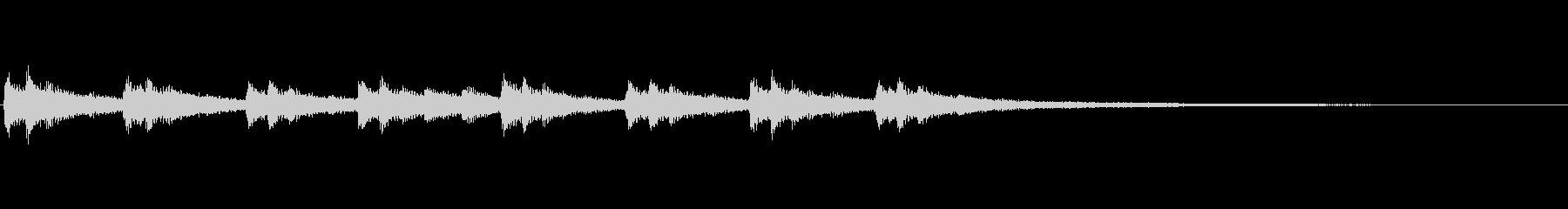 不安定、不可解、不気味なピアノソロ 19の未再生の波形
