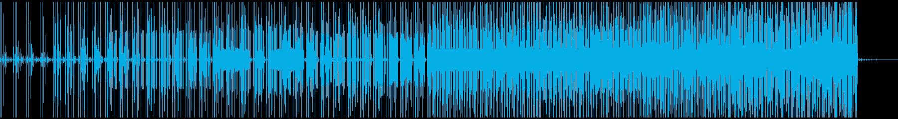 不気味なテクノの再生済みの波形