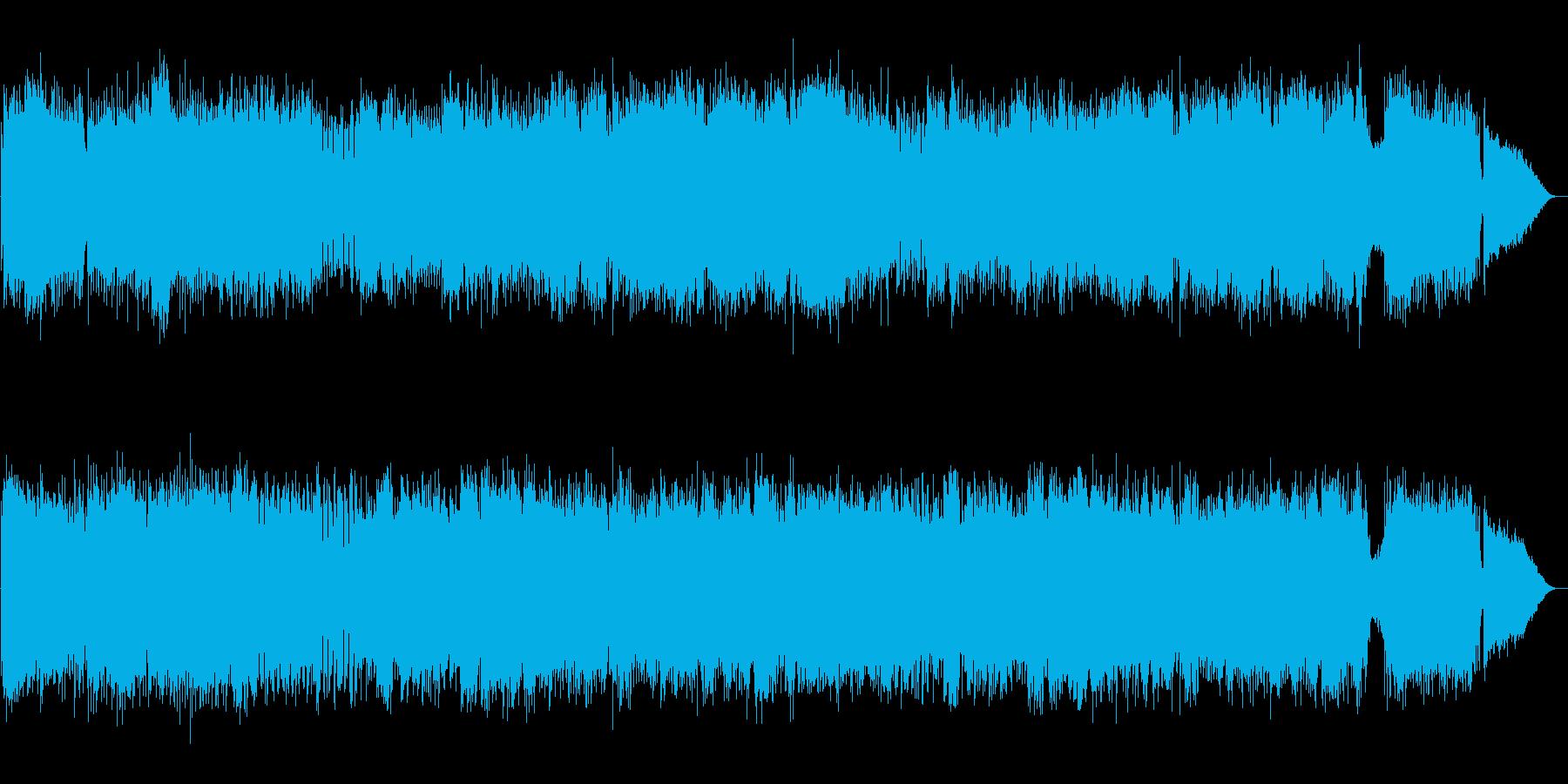 疾走感ある和風ロック バトルBGMの再生済みの波形