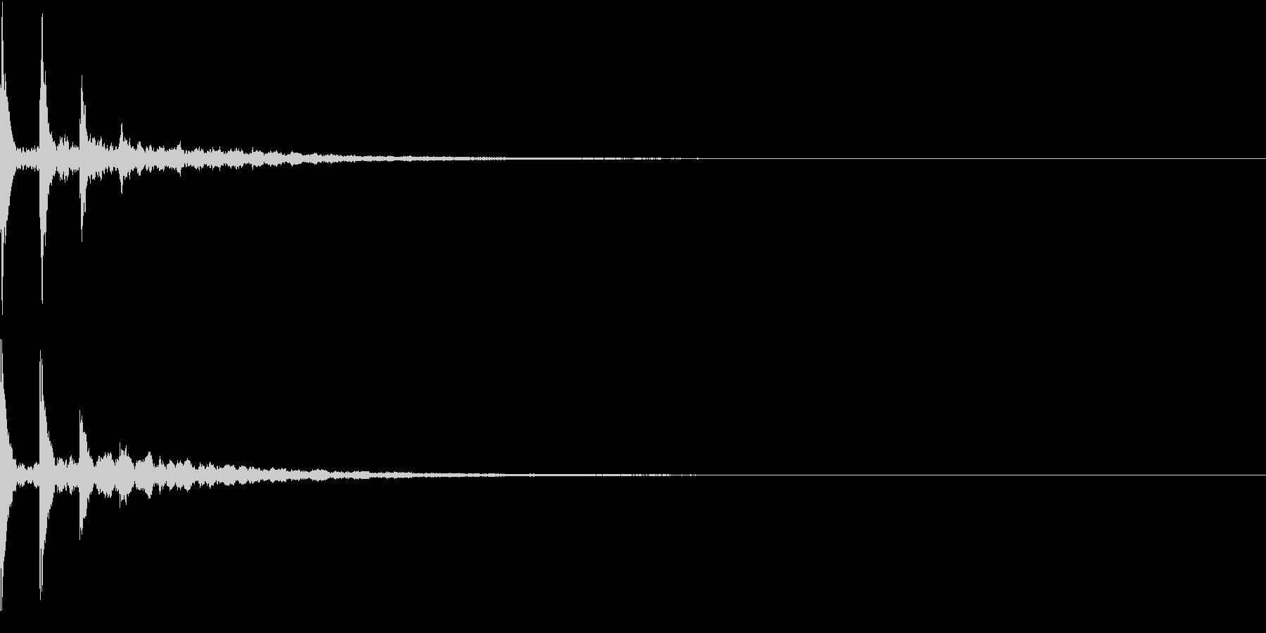 AnimeFX 涙の雫が垂れる描写 SEの未再生の波形