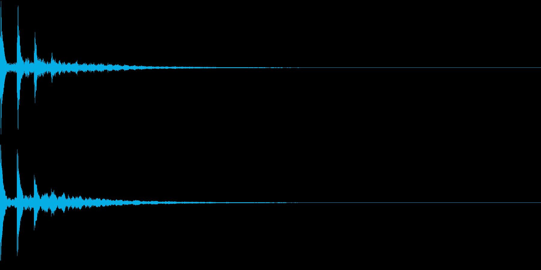 AnimeFX 涙の雫が垂れる描写 SEの再生済みの波形