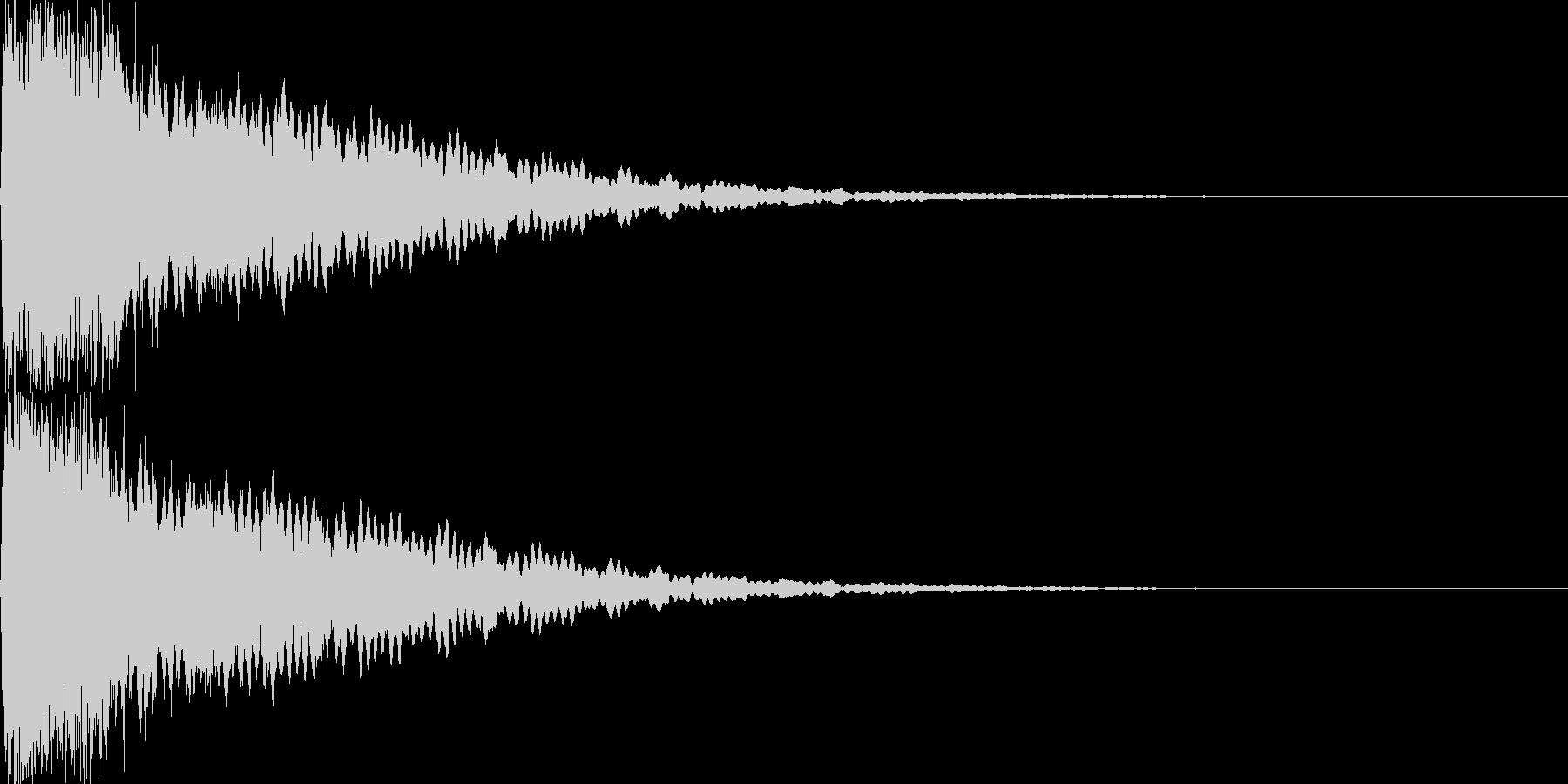 光イメージ音 キュピーン_01_ステレオの未再生の波形