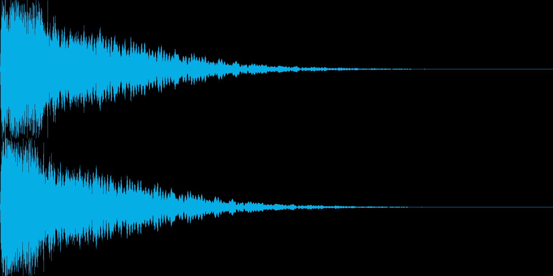 光イメージ音 キュピーン_01_ステレオの再生済みの波形