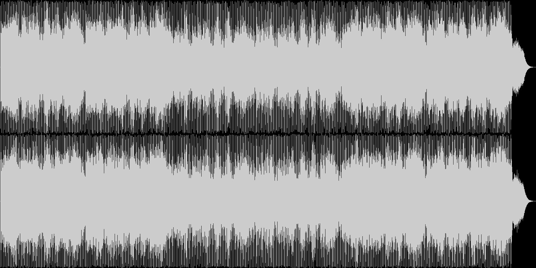 明るく、神秘的なシンセサイザーのポップの未再生の波形