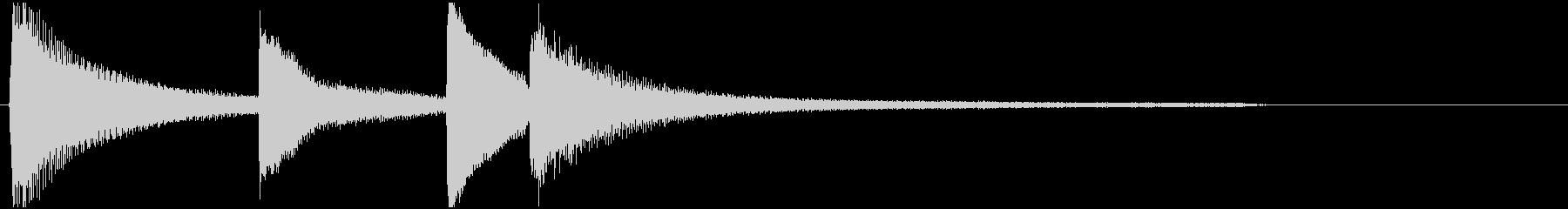 ぴえんな瞬間(ピアノ)Amの未再生の波形