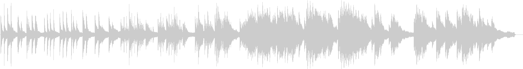 ヒーリングピアノ組曲 まどろみ 7の未再生の波形