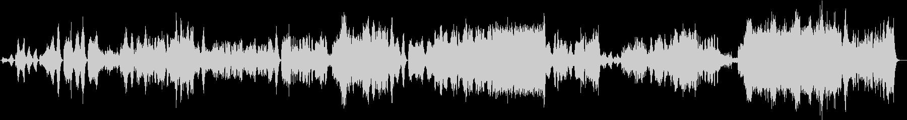 重厚かつ荘厳な管弦曲の未再生の波形