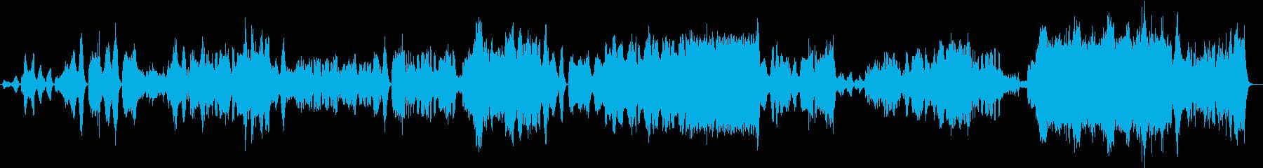 重厚かつ荘厳な管弦曲の再生済みの波形