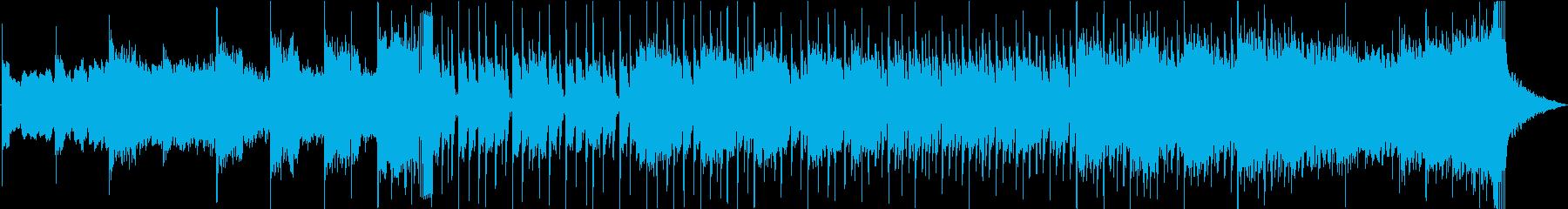 エピック&シンセのダークなオープニング曲の再生済みの波形