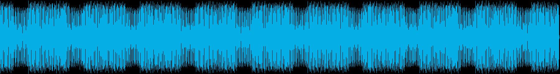 シンセとドラムのPOPでヘンテコBGMの再生済みの波形