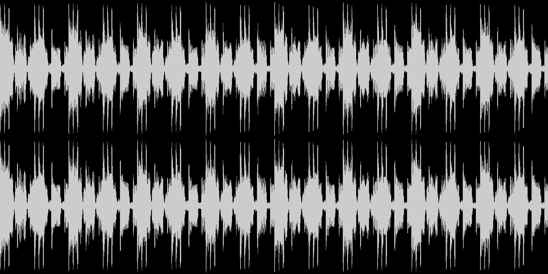 メニュー画面・汎用ループ単調ローファイの未再生の波形