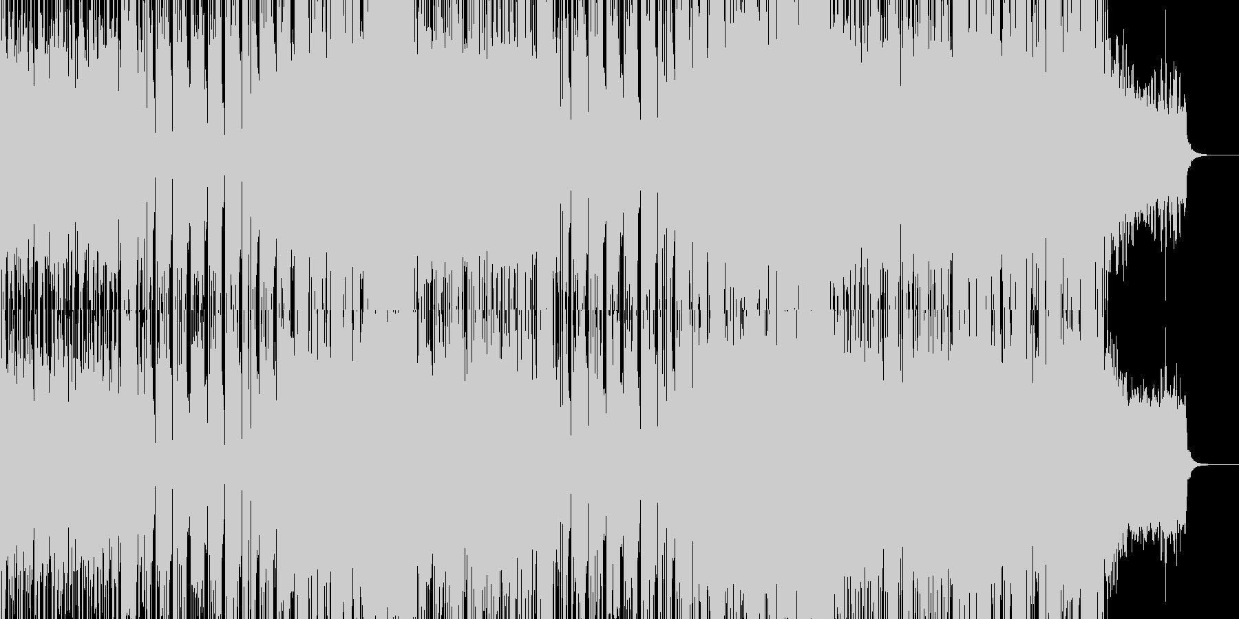 疾走感のあるコミカルなテクノポップの未再生の波形