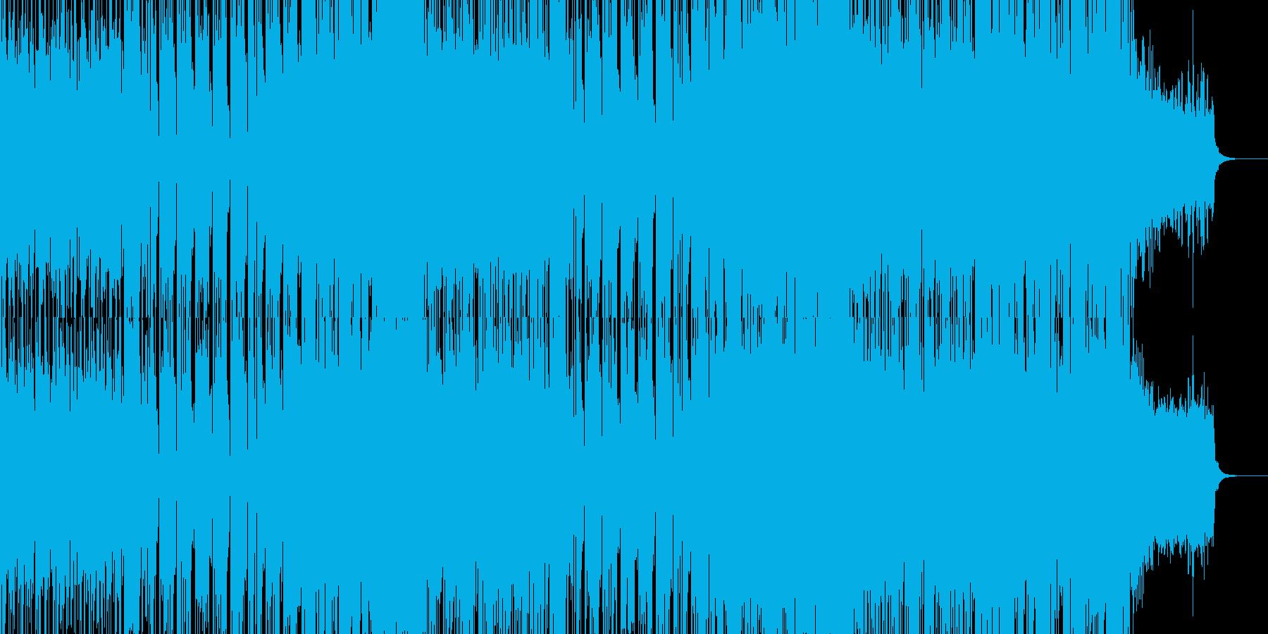 疾走感のあるコミカルなテクノポップの再生済みの波形