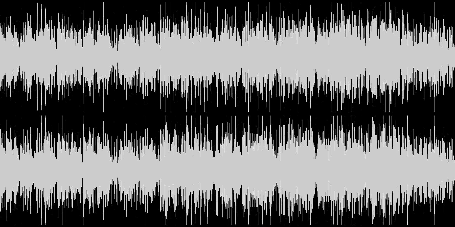 爽快なサックス、クラブジャズ ※ループ版の未再生の波形