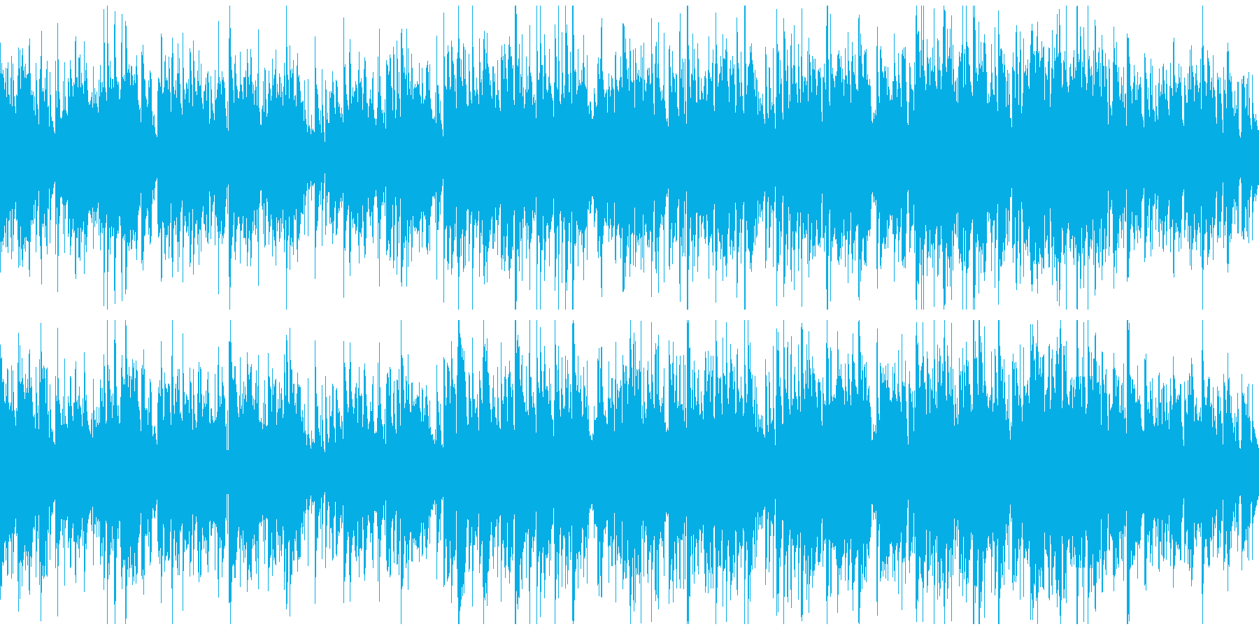 爽快なサックス、クラブジャズ ※ループ版の再生済みの波形