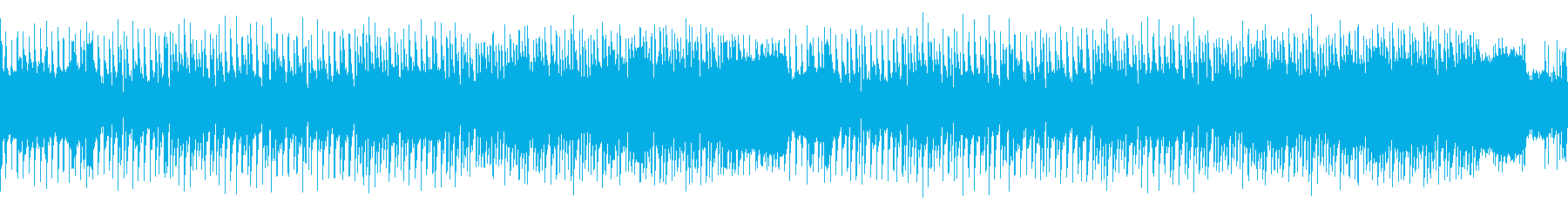 ループ・レトロゲーム風クールな感じの曲の再生済みの波形