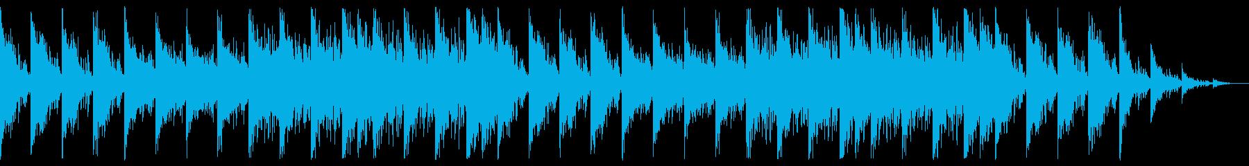 軽めでやわらかい民族風音楽の再生済みの波形