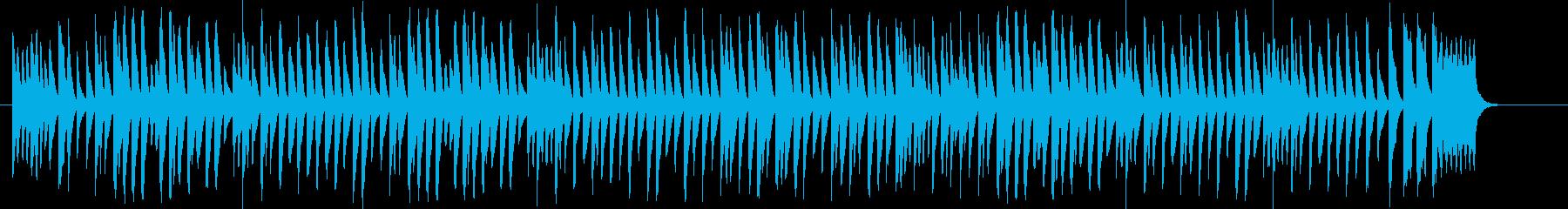 かわいらしく楽しいマリンバ曲の再生済みの波形