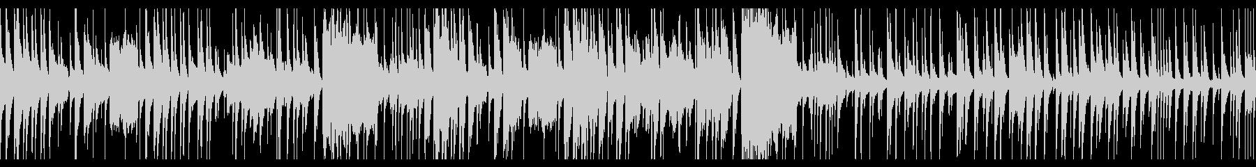 マリンバの可愛いジャズブルースの未再生の波形