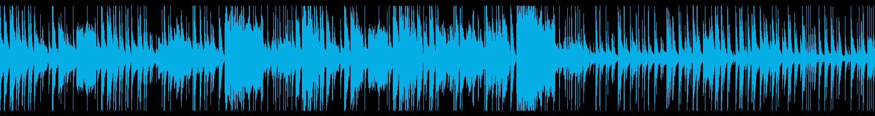 マリンバの可愛いジャズブルースの再生済みの波形