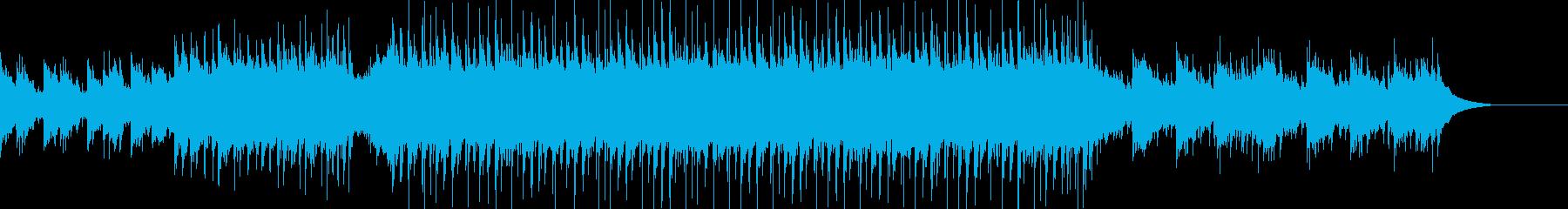 壮大で感動的な和風エピック音楽の再生済みの波形