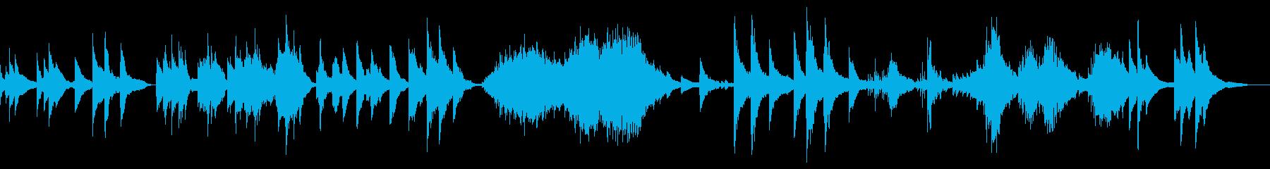 ピアノによるノスタルジックな音風景の再生済みの波形