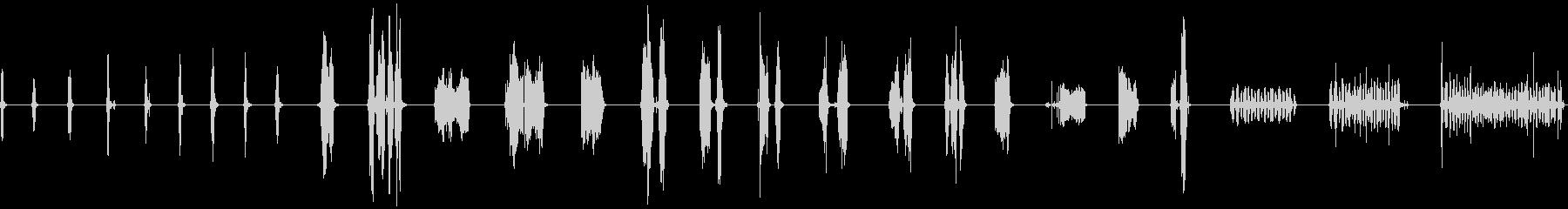 ジッパー、ナイロン、スキーク、27...の未再生の波形