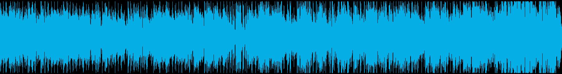 ランチタイムのカフェ的ボサノバ※ループ版の再生済みの波形