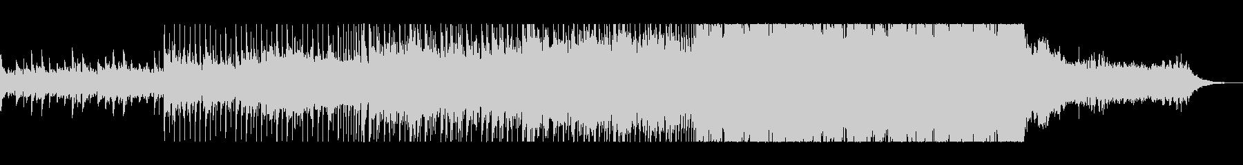 おしゃれで勢いのあるピアノシンセサウンドの未再生の波形
