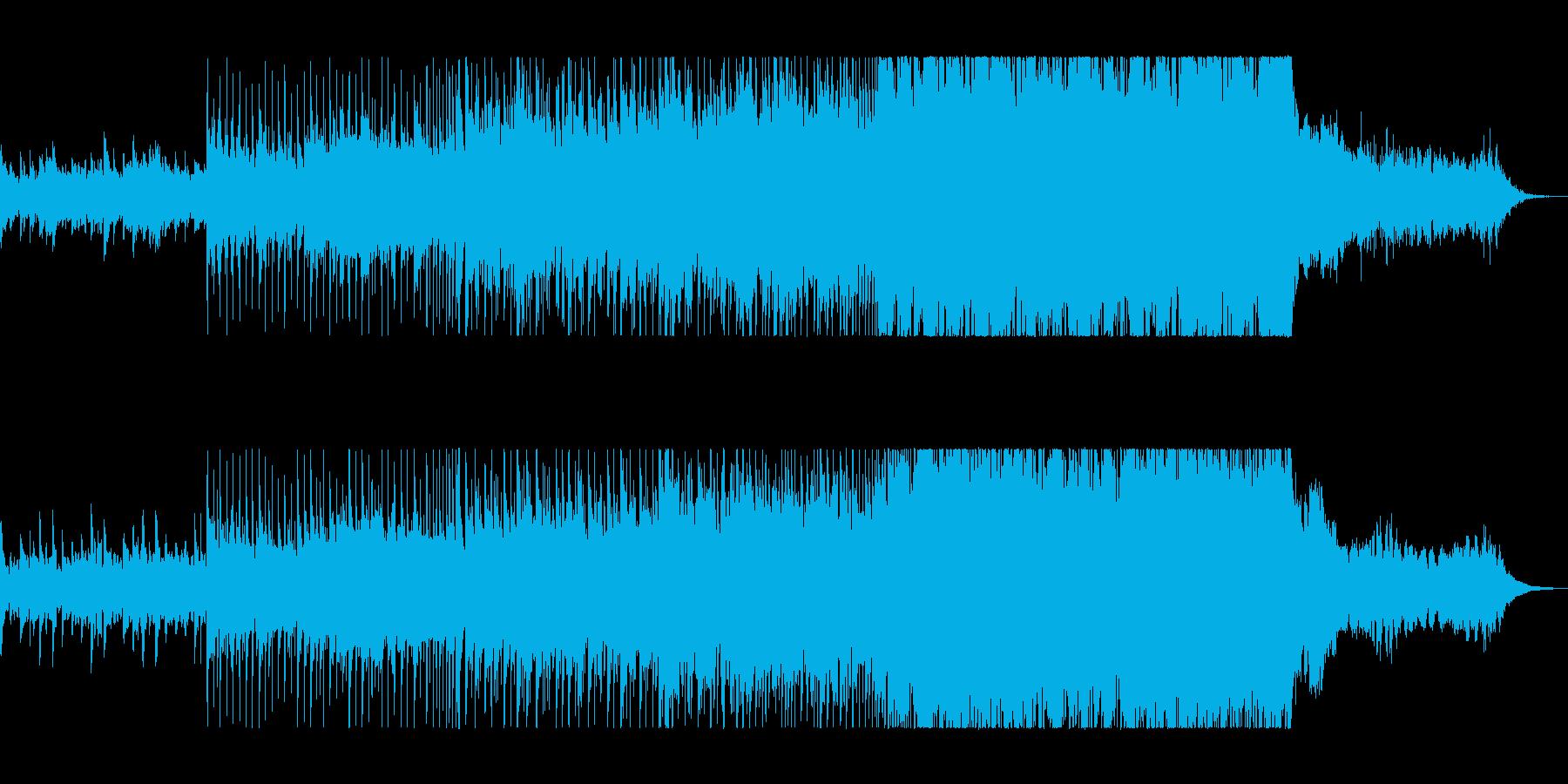 おしゃれで勢いのあるピアノシンセサウンドの再生済みの波形