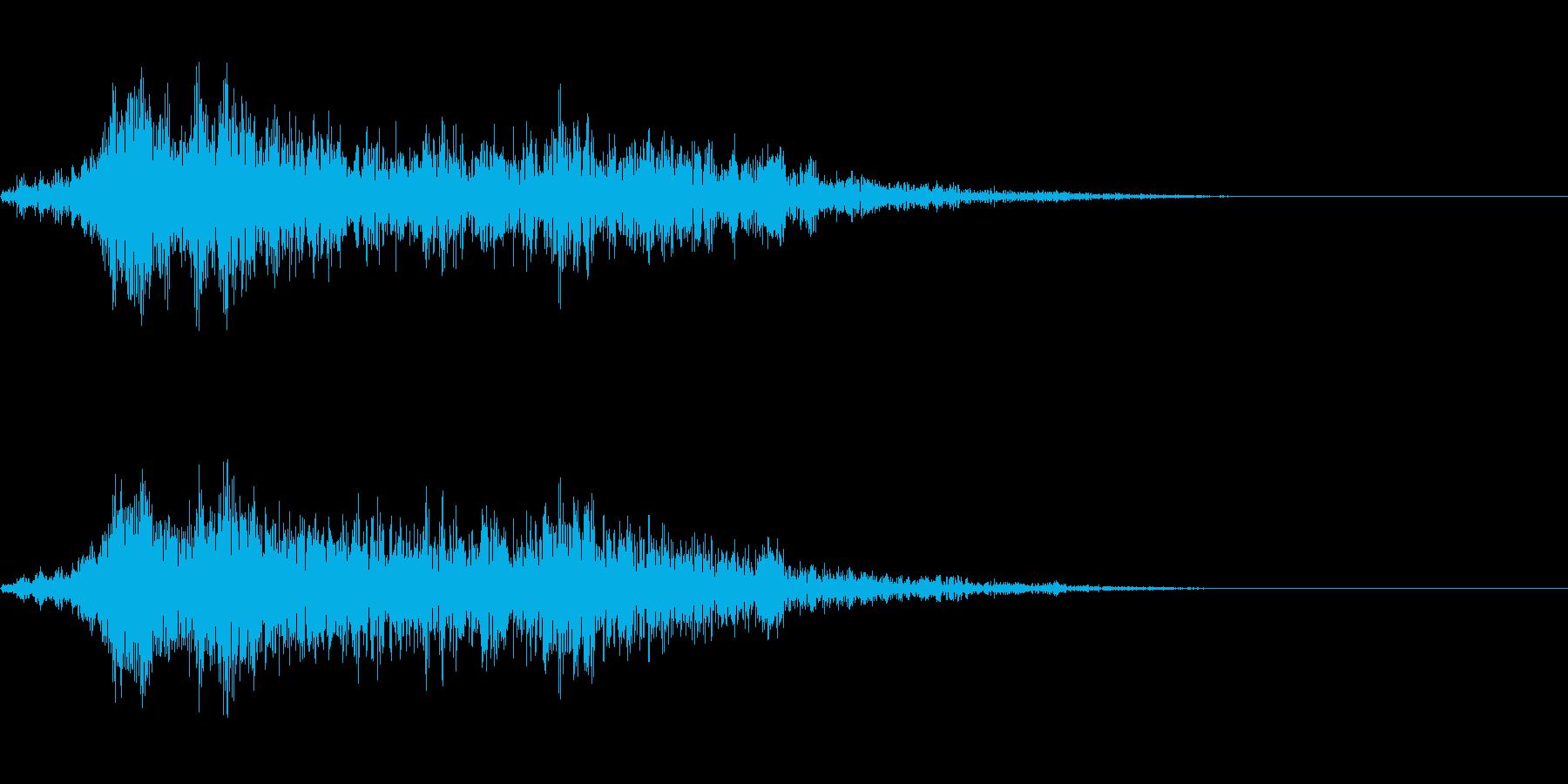 機械式の門や扉の音などにの再生済みの波形