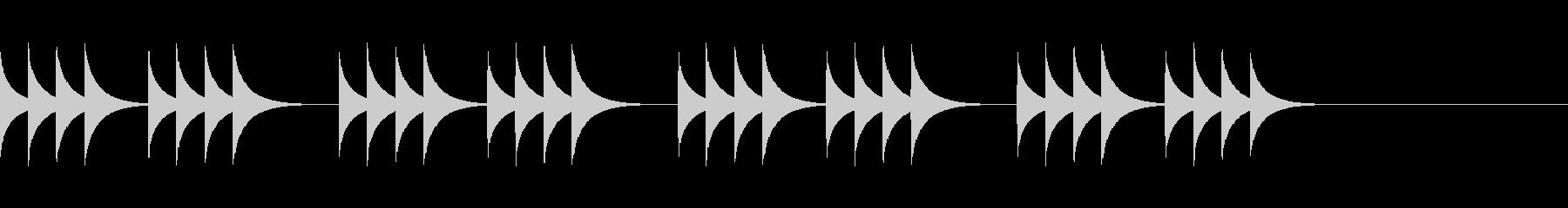 柔らかいコール音03の未再生の波形