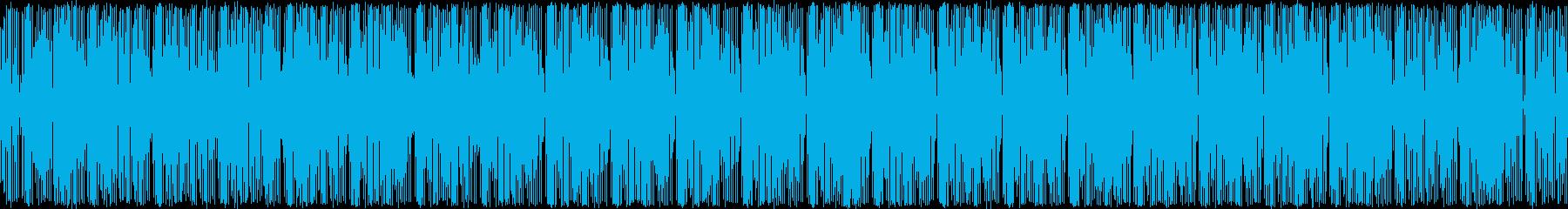 宇宙人が現れそうなふざけたBGMの再生済みの波形