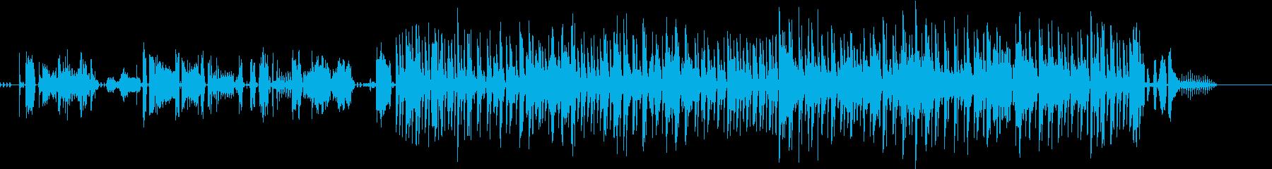 無機質なエレクトロ+ドラムの再生済みの波形