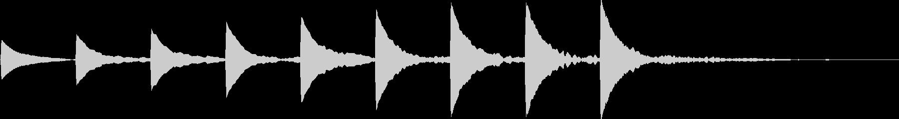 アイキャッチ・テロップ・場面転換・上昇の未再生の波形
