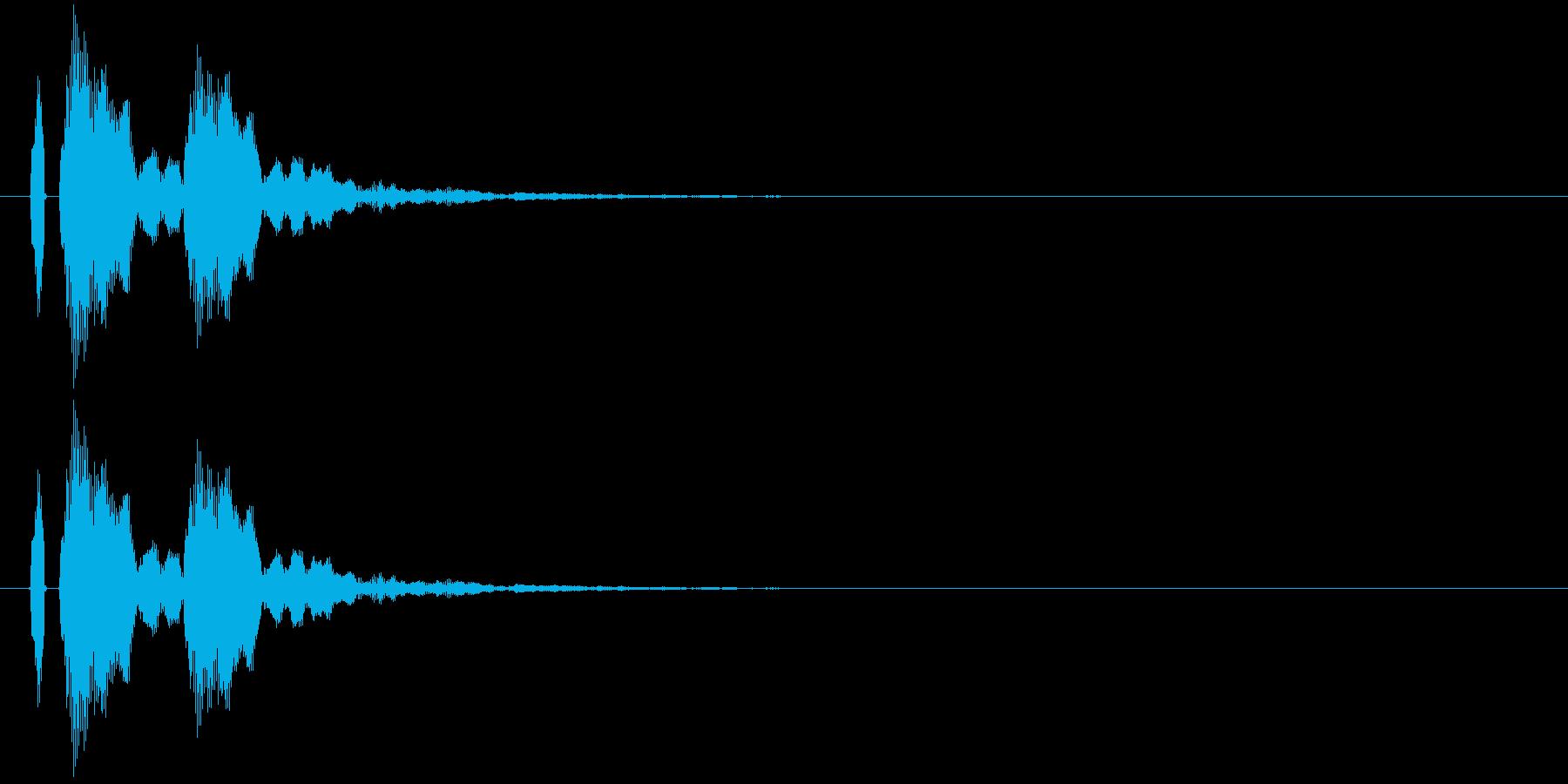 【ポポン!】とてもリアルな太鼓の鼓!11の再生済みの波形