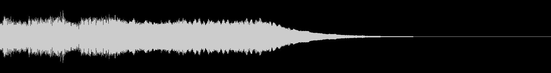 シンセサイザーによるクリア・達成音の未再生の波形