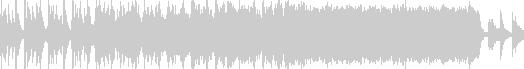 ハリウッド系トレーラーのBGMの未再生の波形
