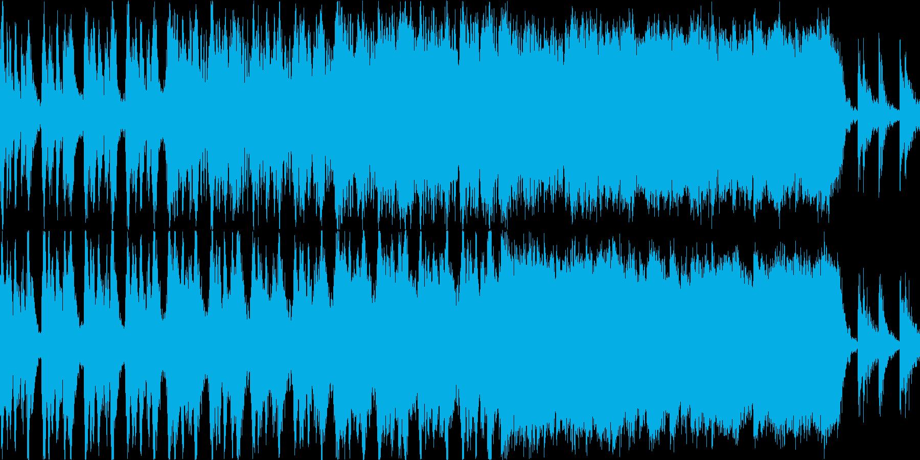 ハリウッド系トレーラーのBGMの再生済みの波形